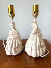 Load image into Gallery viewer, Vintage MCM Victorian Ladies Chalkware Lamps