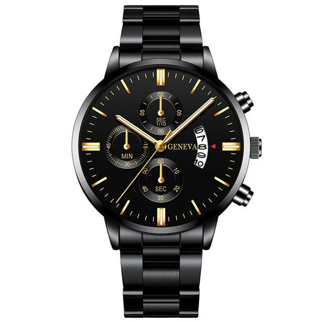 Fashion Men Stainless Steel Watch Luxury Calendar Quartz Wrist Watches Business Casual Watch for Man Clock reloj hombre