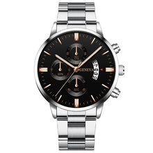 Load image into Gallery viewer, Fashion Men Stainless Steel Watch Luxury Calendar Quartz Wrist Watches Business Casual Watch for Man Clock reloj hombre