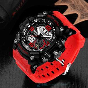 SANDA Brand Wrist Watch Men Watches Military Army Sport Style Wristwatch Dual Display Male Watch For Men Clock Waterproof Hours
