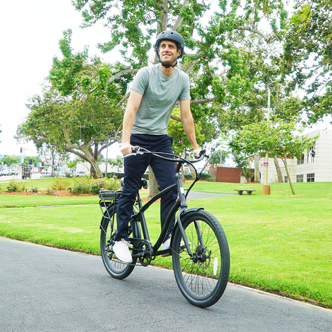How to Get On and Mount a Men's Electric Bike