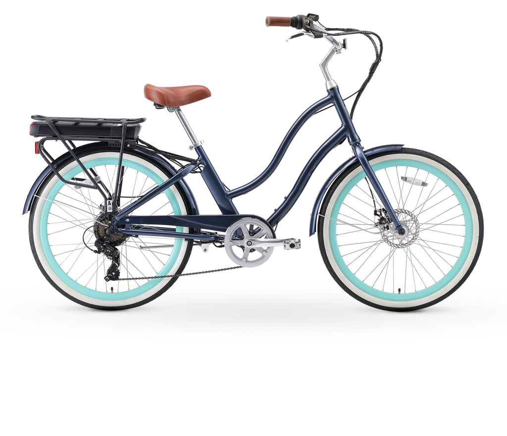 "sixthreezero EVRYjourney Women's 26"" 500W 7 Speed Electric Hybrid Bicycle"