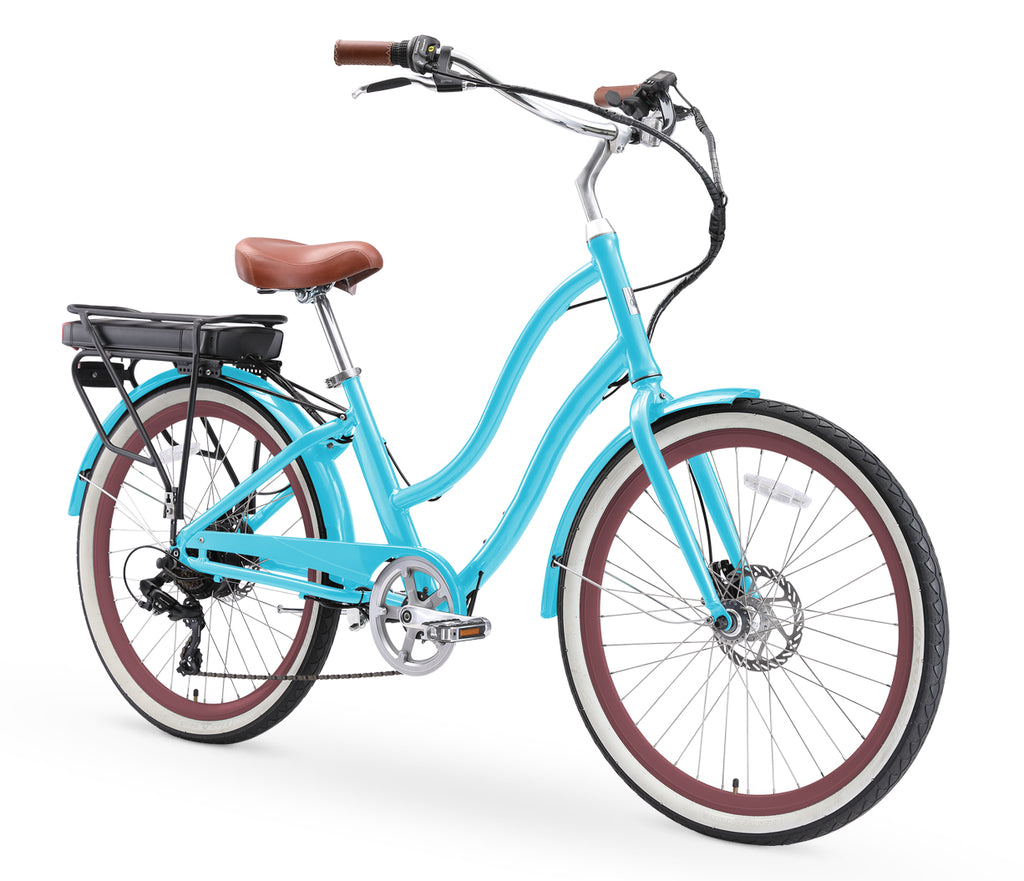 "sixthreezero EVRYjourney Women's 26"" 250W 7 Speed Electric Hybrid Bicycle"