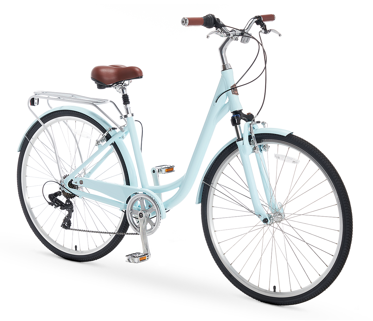 A/O Women's Jackie 7 Speed Comfort Hybrid Bicycle