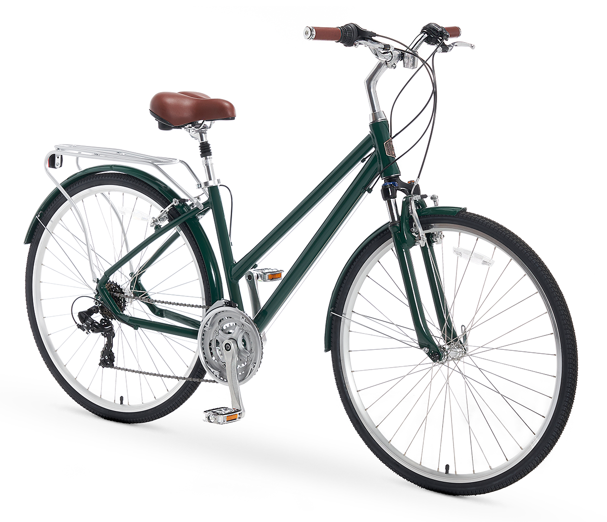 A/O Women's Rosa 21 Speed Hybrid Commuter Bicycle