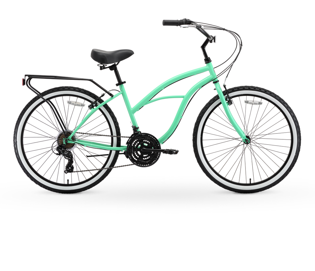 sixthreezero Around The Block Women/'s Beach Cruiser Bicycle OR eBike 250W and 500W Electric Bike 24-Inch and 26-Inch