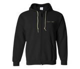 sixthreezero EVRYjourney Midweight Full-Zip Hooded Black Beauty Papyrus 100% Cotton Unisex Sweatshirt