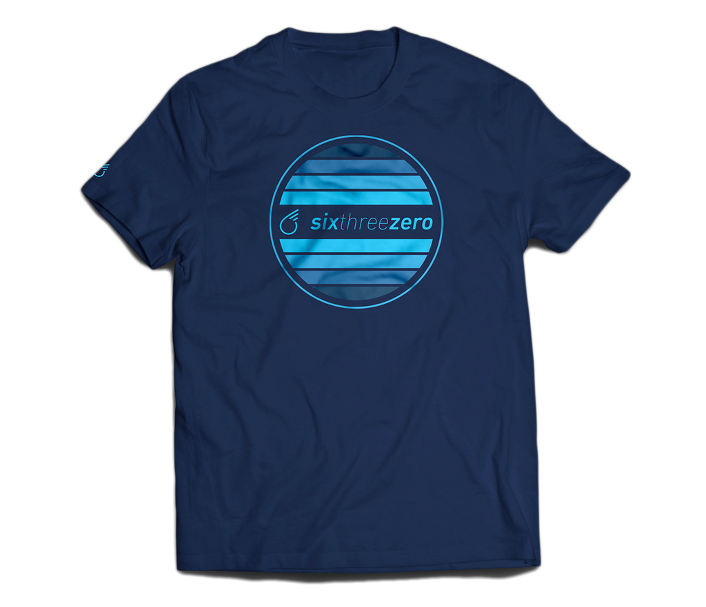 sixthreezero EVRYjourney Premium Short Sleeve Crew Pageant Blue Aqua 100% Cotton Unisex Shirt