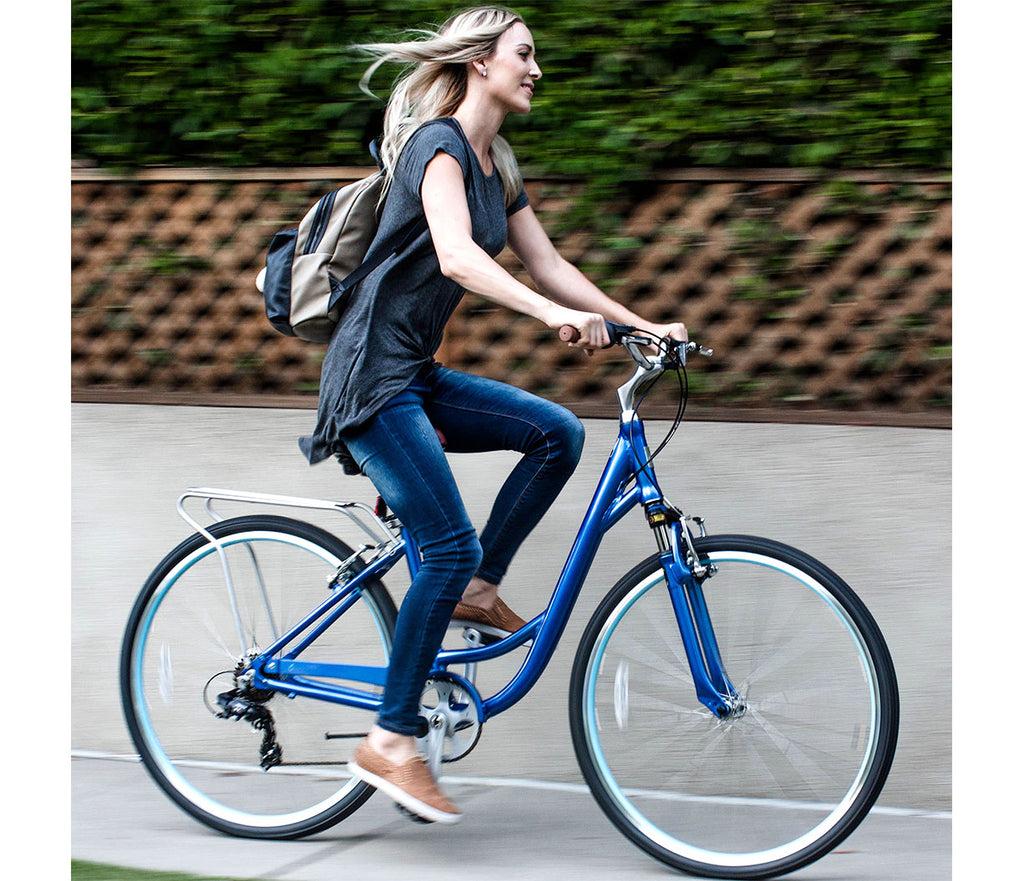sixthreezero Body Ease Women's 7 Speed Step Through Comfort Bicycle