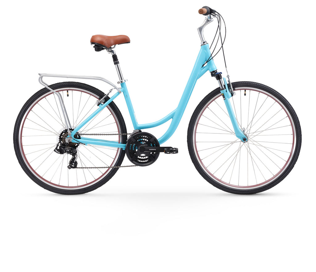 sixthreezero Body Ease Women's 21 Speed Step Through Comfort Bicycle