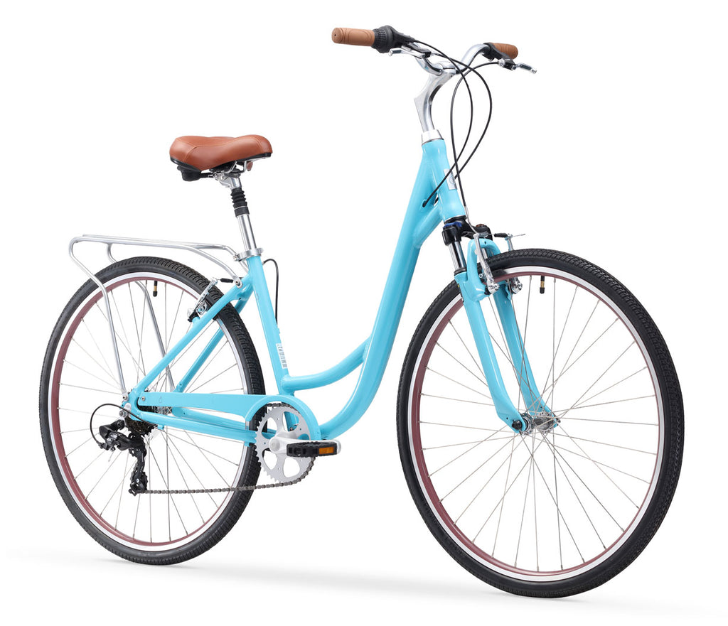 Body Ease Women's 7 Speed Step Through Comfort Bicycle