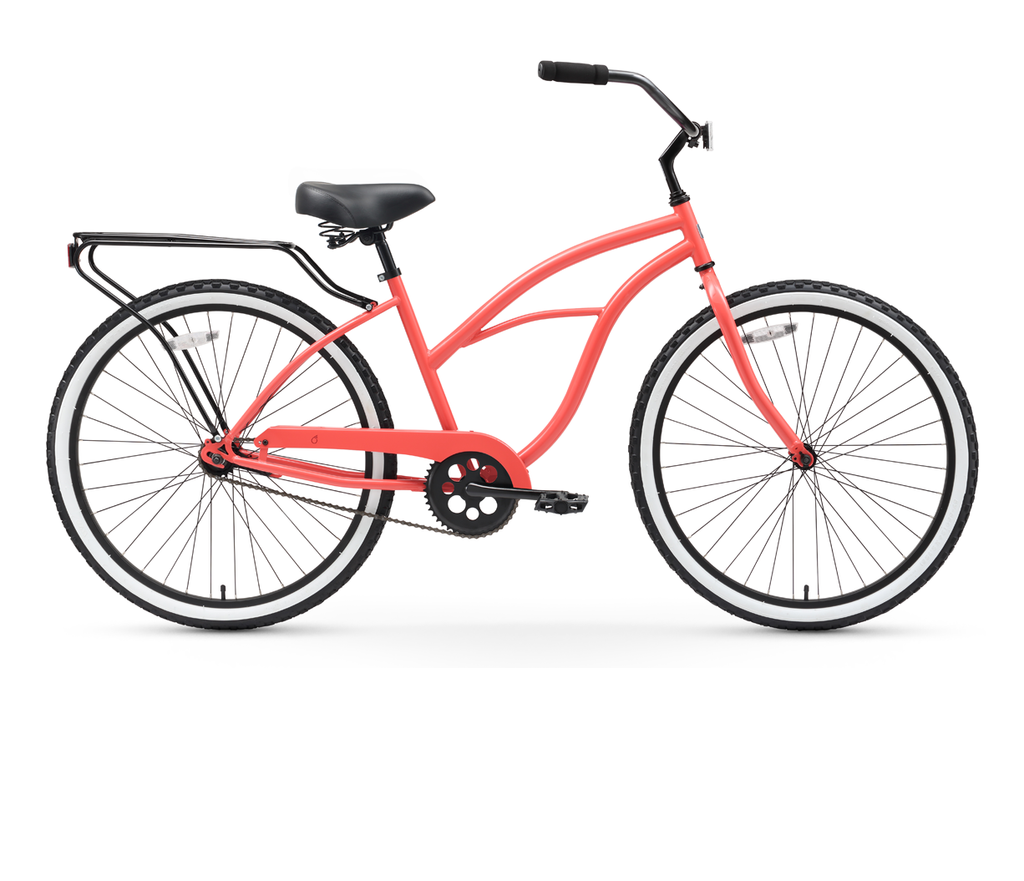 "sixthreezero Around the Block Women's 26"" Single Speed Cruiser Bicycle"