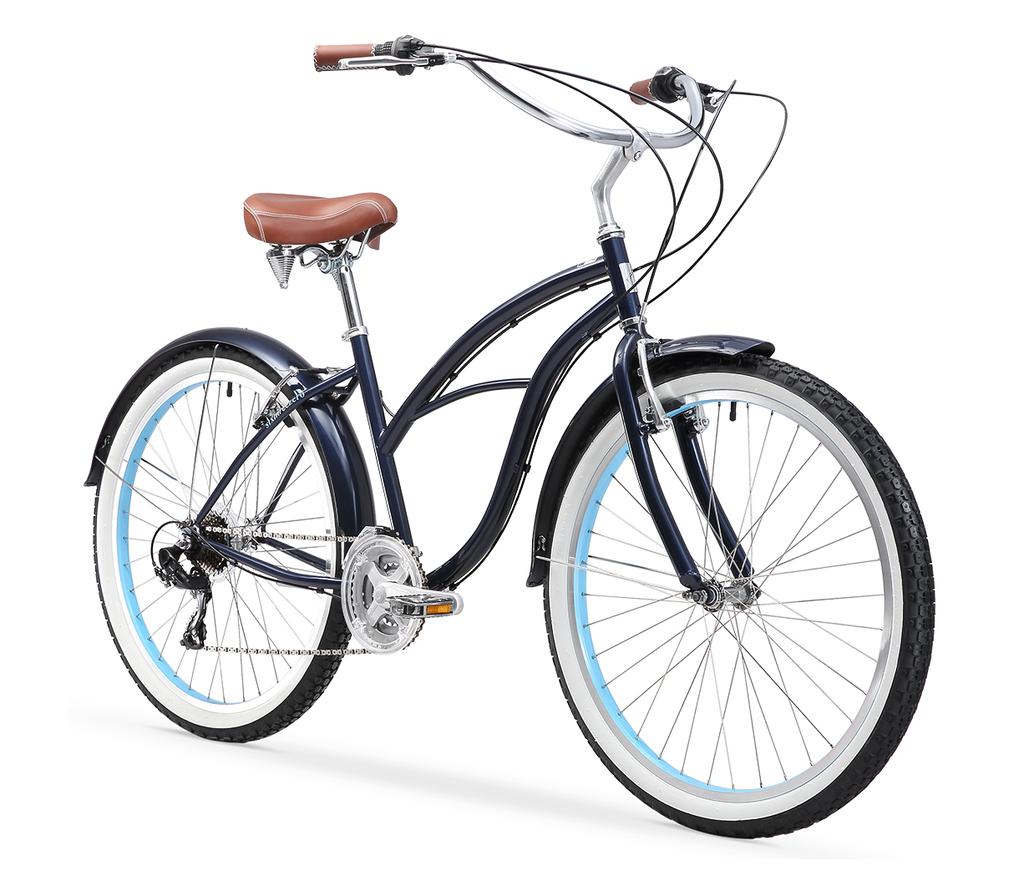 "sixthreezero Classic Edition Women's 26"" 21 Speed Beach Cruiser Bicycle"