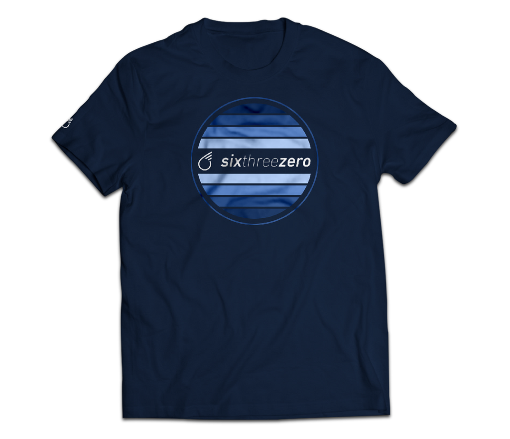 sixthreezero EVRYjourney Premium Short Sleeve Crew Pageant Blue 100% Cotton Unisex Shirt