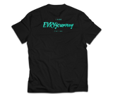 sixthreezero EVRYjourney Premium Short Sleeve Crew Black Beauty Mint Green 100% Cotton Unisex Shirt
