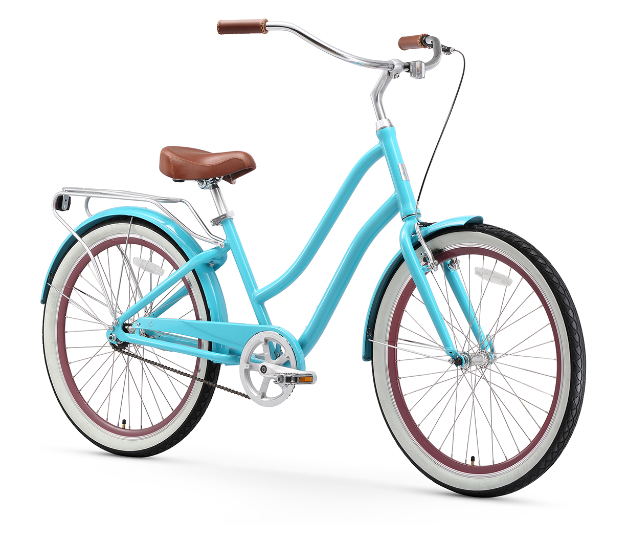 "sixthreezero EVRYjourney Women's 26"" Single Speed Step-Through Touring Hybrid Bicycle"