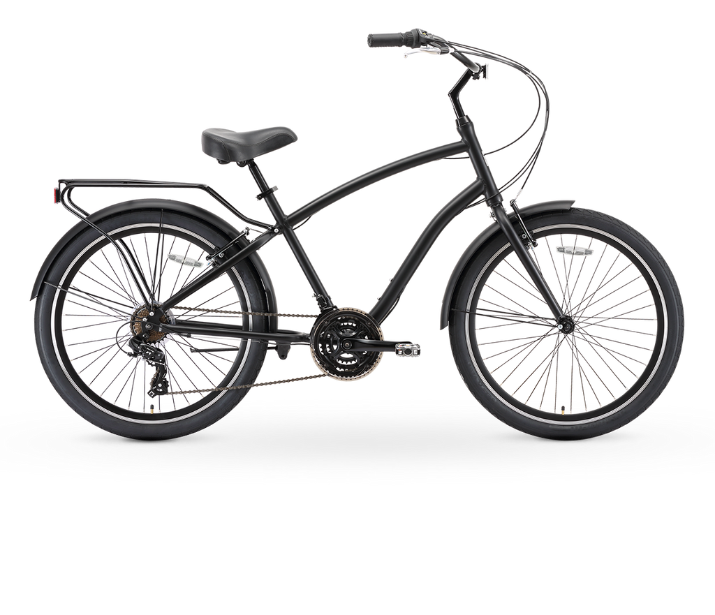 "sixthreezero EVRYjourney Men's 26"" 21 Speed Touring Hybrid Bicycle"