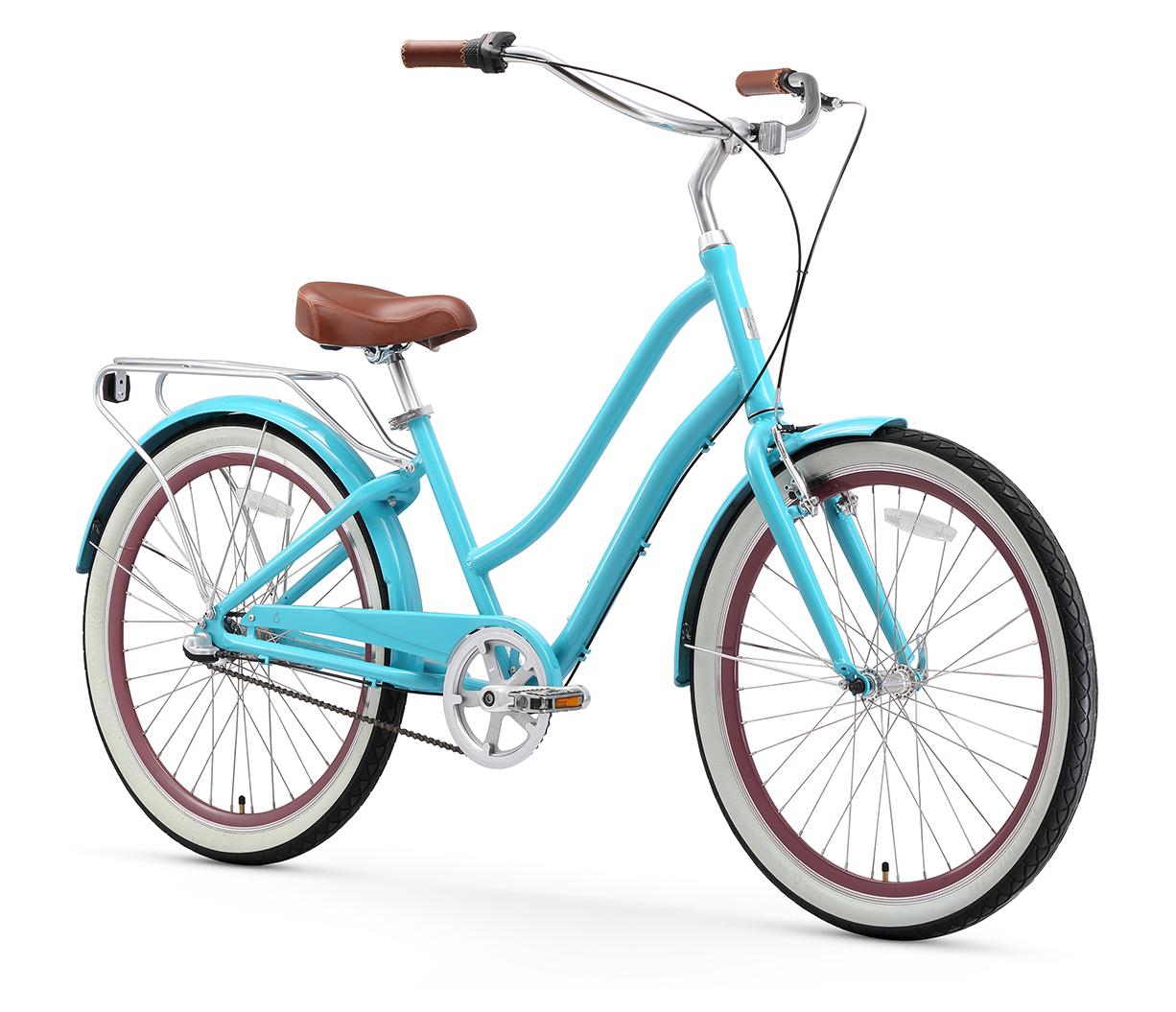 "sixthreezero EVRYjourney Women's 24"" 3 Speed Step-Through Touring Hybrid Bicycle"