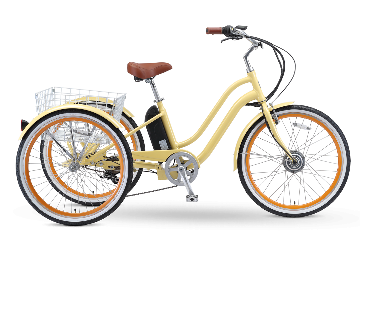 "sixthreezero EVRYjourney 26"" 7 Speed Hybrid Electric Tricycle, 36V, 250W"