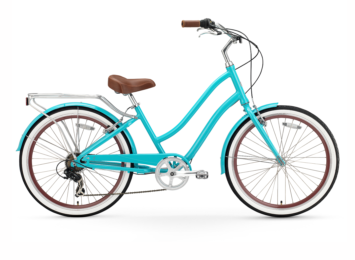 "sixthreezero EVRYjourney Women's 24"" Seven Speed Step-Through Touring Hybrid Bicycle"