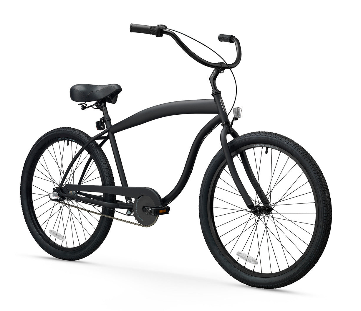 sixthreezero In The Barrel 3 Speed Men's Beach Cruiser Bike, Matte Black