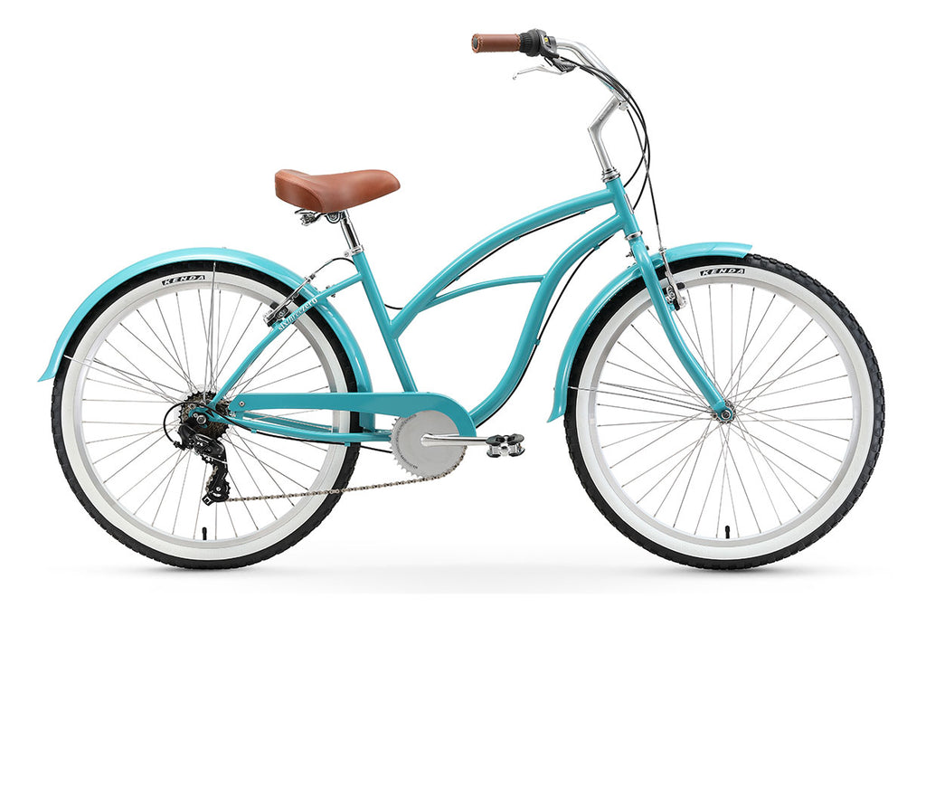 "sixthreezero Breathe Women's 26"" 7 Speed Beach Cruiser Bicycle"