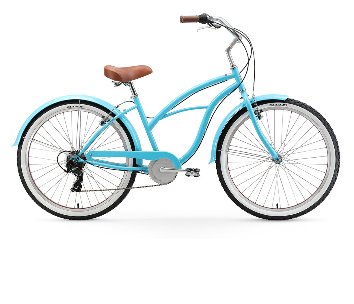 "sixthreezero Teal Women's 26"" 7 Speed Beach Cruiser Bicycle"