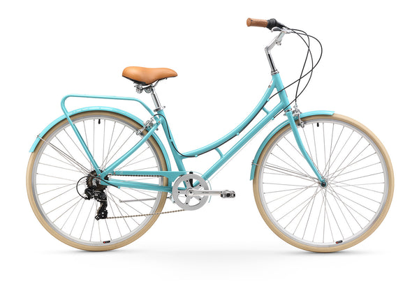 sixthreezero Ride in the Park Women's 7 Speed Touring City Bike, Blue