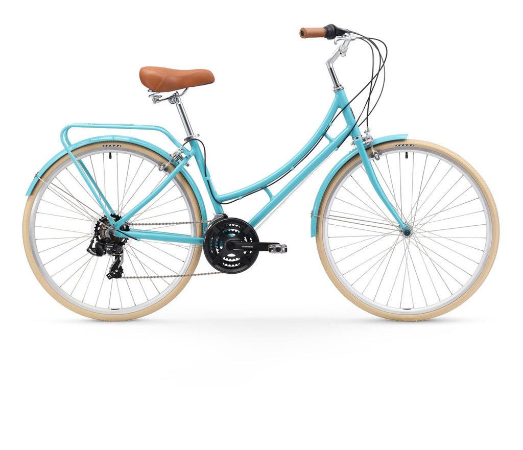 sixthreezero Ride in the Park Women's 21-Speed Touring City Bike with Rear Rack