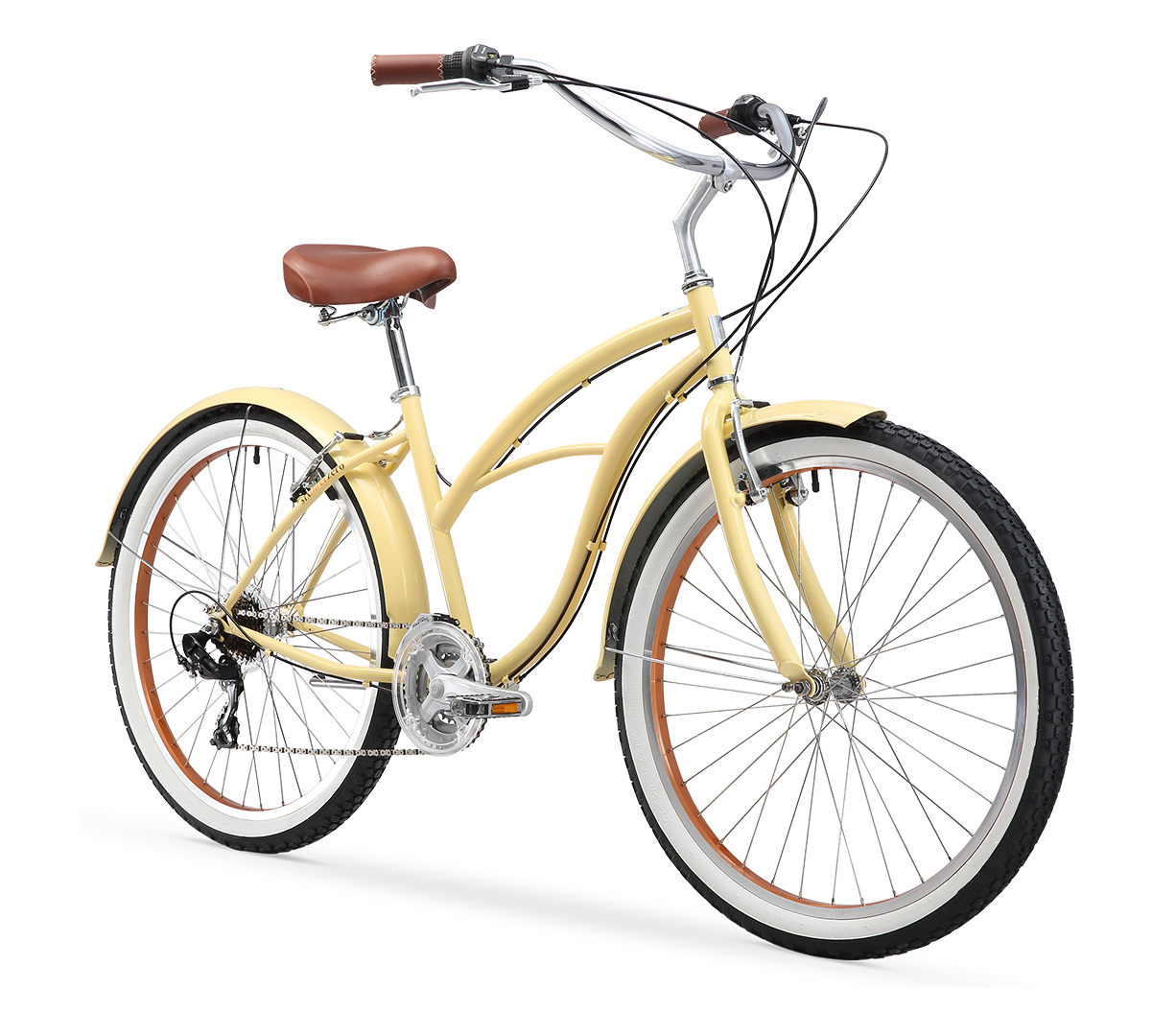 "sixthreezero Scholar Women's 26"" 21 Speed Beach Cruiser Bicycle"