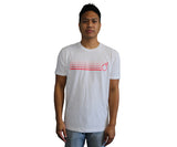 sixthreezero White with Fading Coral 100% Cotton Unisex Shirt