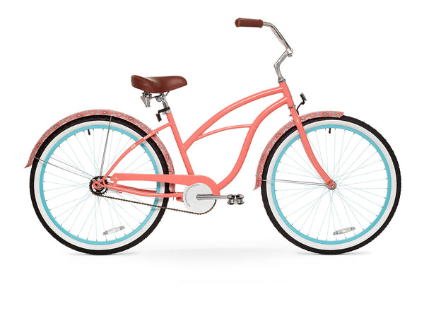 Paisley Woman Single Speed - Women's Beach Cruiser Bike