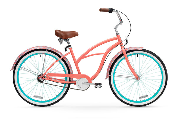 "sixthreezero Paisley 3 Speed 26"" Women's Beach Cruiser Bike"