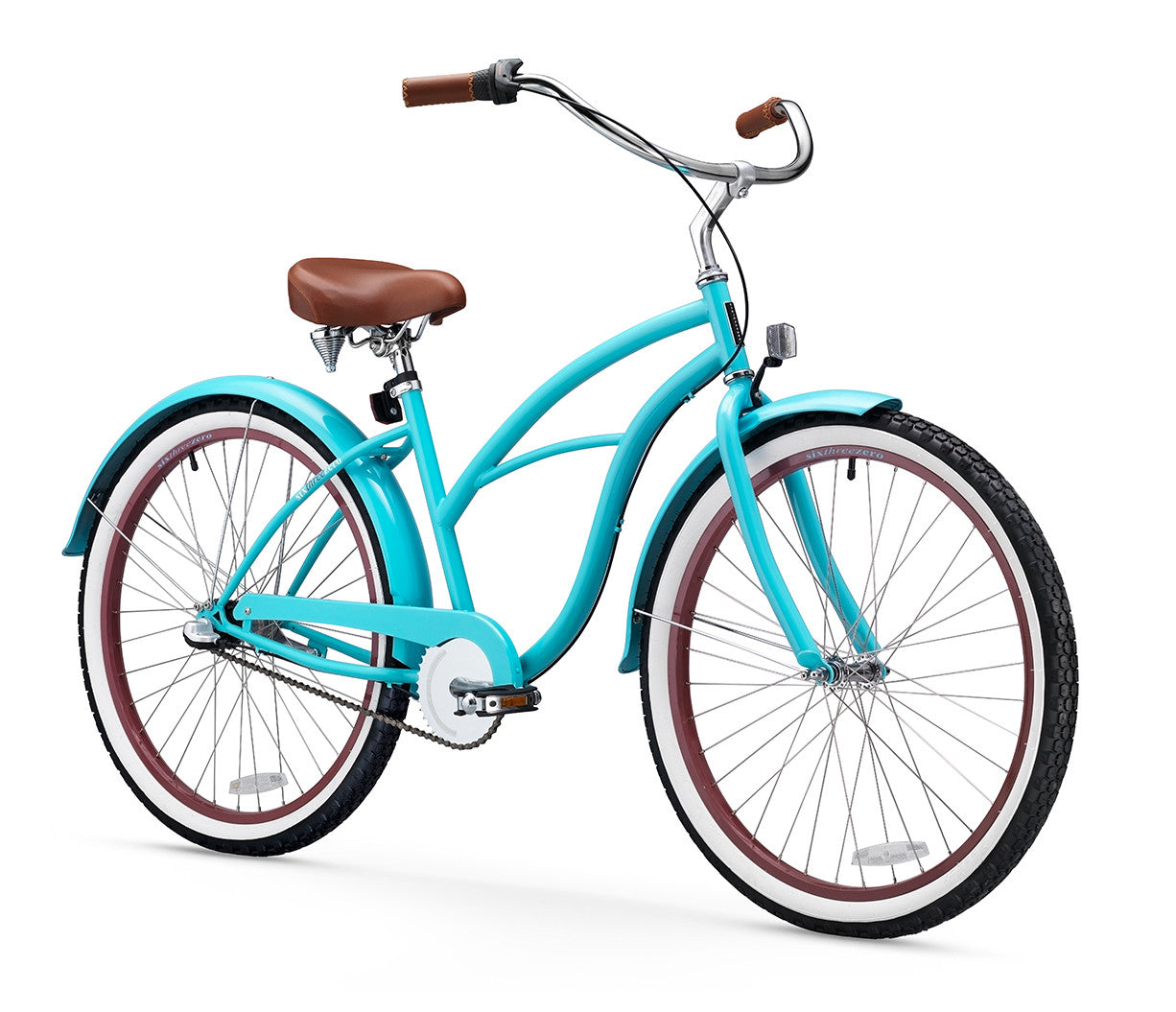 sixthreezero Teal 3 Speed Women's Beach Cruiser Bike