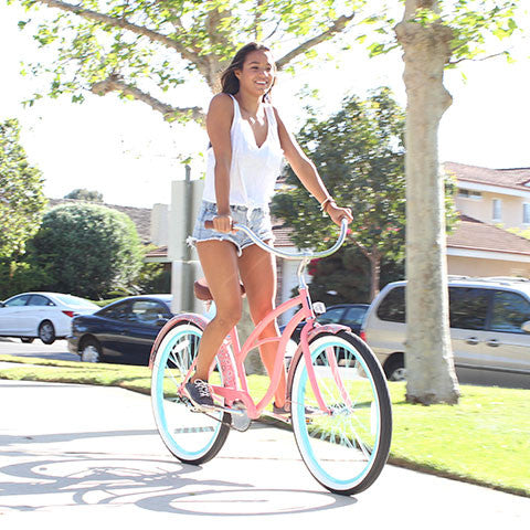 Paisley Woman 3 Speed - Women's Beach Cruiser Bike