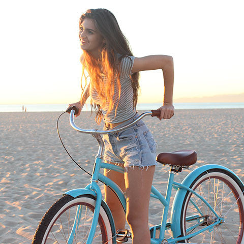 Teal Woman 3-Speed - Women's Beach Cruiser Bike