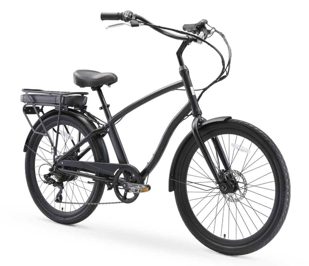 "sixthreezero EVRYjourney Men's 26"" 500W 7 Speed Electric Hybrid Bicycle"