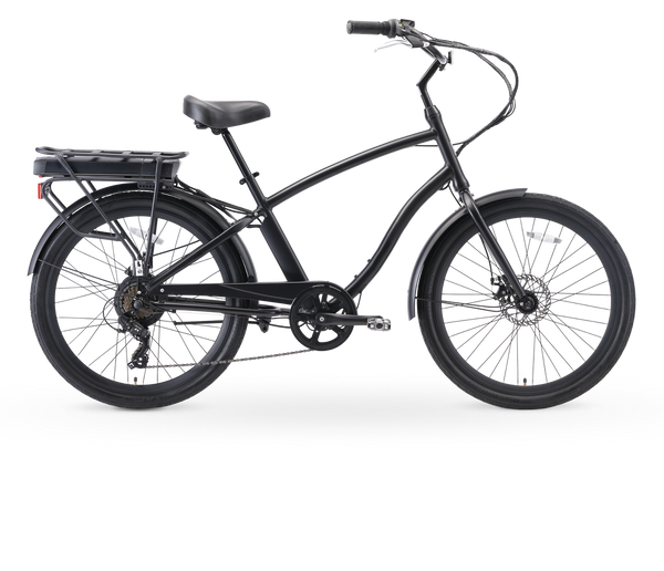 "sixthreezero EVRYjourney Men's 26"" 250W 7 Speed Electric Hybrid Bicycle"