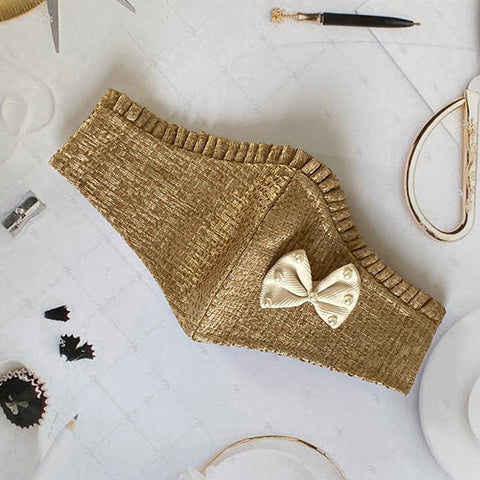 Jute White Bow - Women Mask
