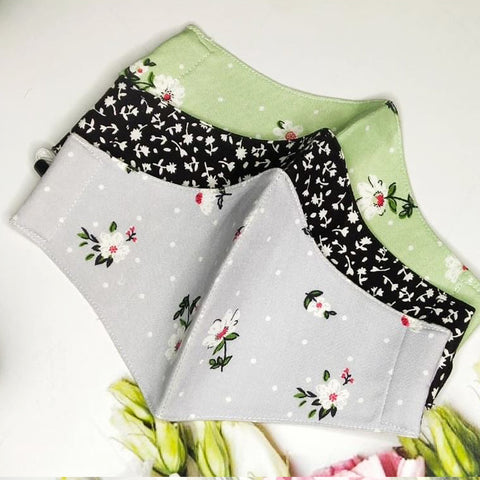 Set of 3 Floweret (Black,Grey,Green)
