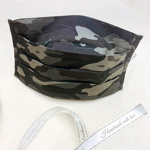 Mask - Army Camouflage Pleated