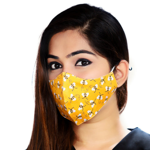 Yellow Bees - Women's Mask