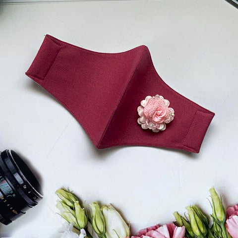 Pink Rosa on Maroon