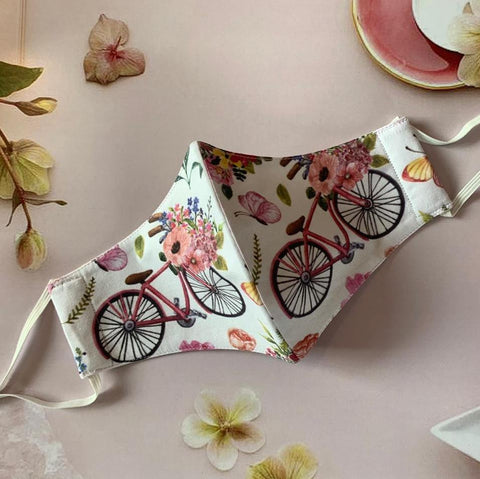 Cycle with Flower Basket