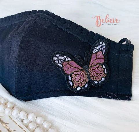 Flutterby Pink Butterfly - Women Mask