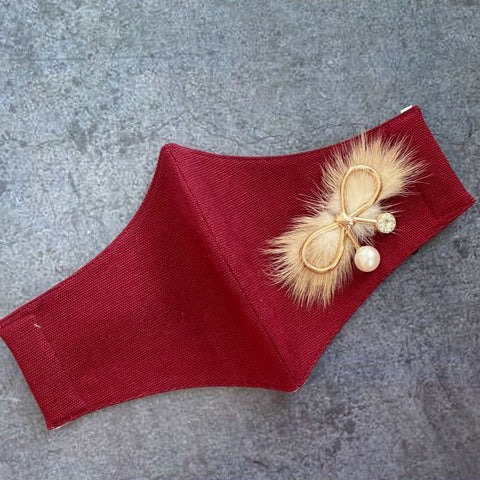 Plush Bow on Red (No Frill)