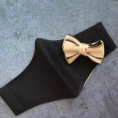 Ribbon Bow on Black (No Frill)