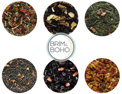 brim and boho loose leaf tea