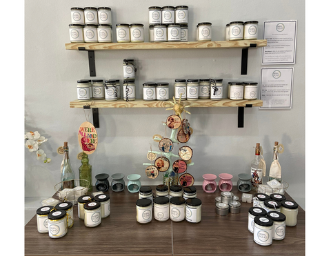brim and boho scented candles