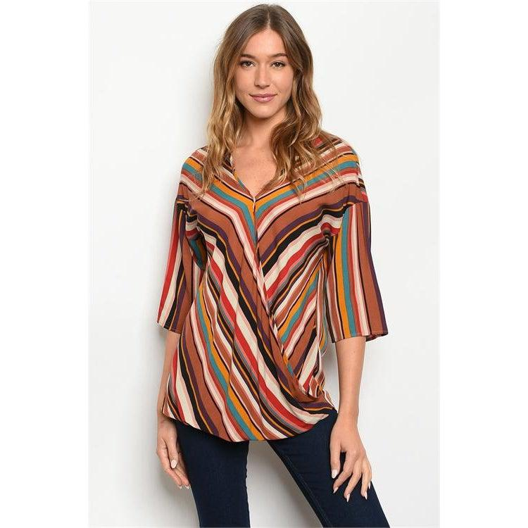Striped Multicolor Top - Brim & Boho